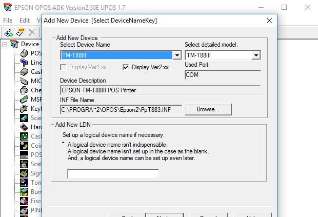Using Epson OPOS with POS-X Thermal Printer - POS-X